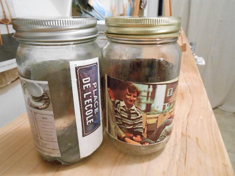 upcycling, reuse, Modge Podge, crafts, used jars, home decor
