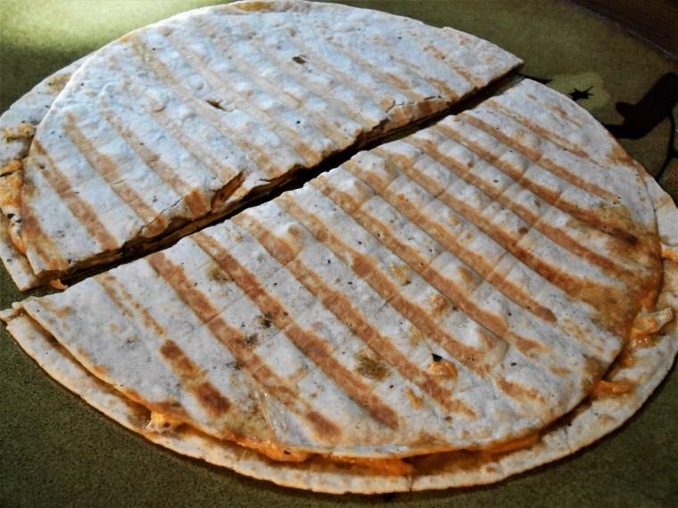 cheese parsley quesadilla panini griddler