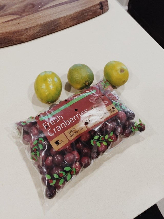 Cranberries and limes