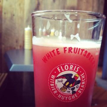 Fruit Beer at a Gastropub