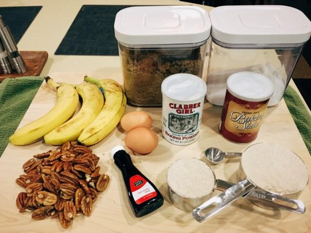 Banana Bread - Ingredients