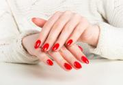 hottest red nail art design