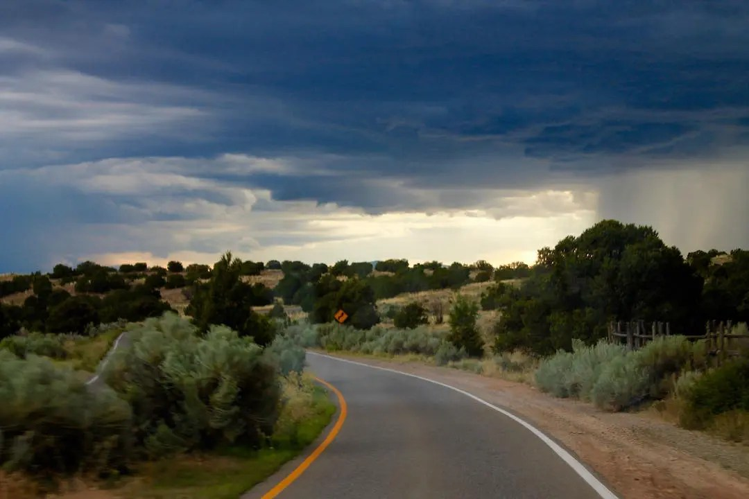 Empty road in Santa Fe