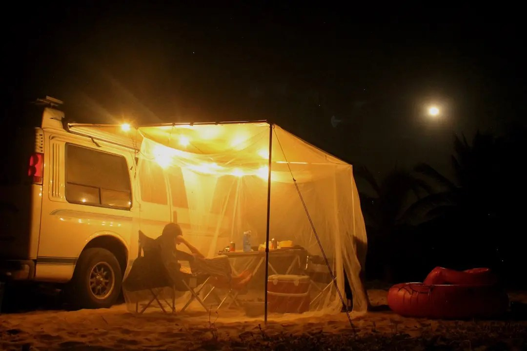 DIY Mosquito Net with Awning