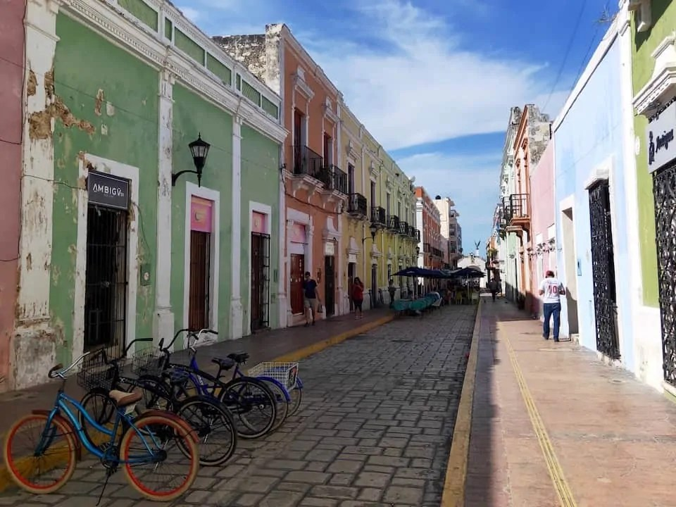The colourful streets of Campeche