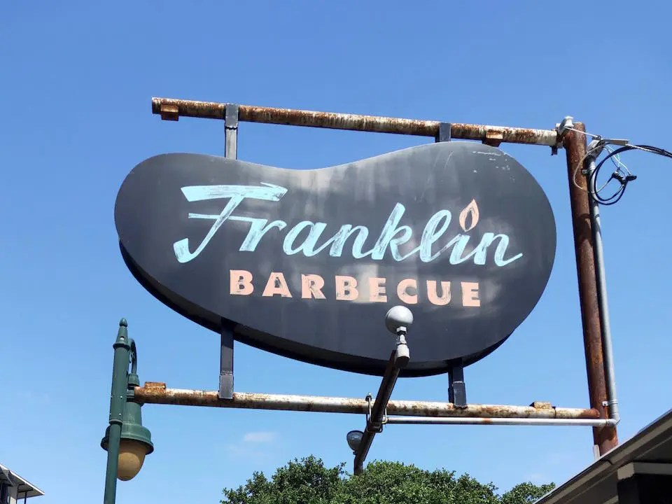 Franklin Barbecue sign in Austin TX