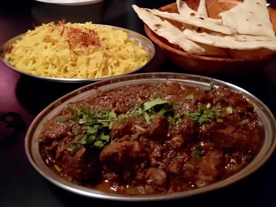 Delicious Indian curry at Cardamomo Cocina Hindu one of the best restaurants in San Cristobal de las Casas.