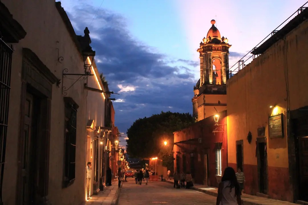 Walking the streets of San Miguel de Allende at night
