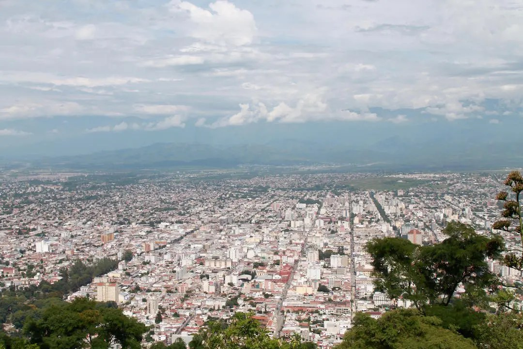 Overlooking Salta from Cerro San Bernardo