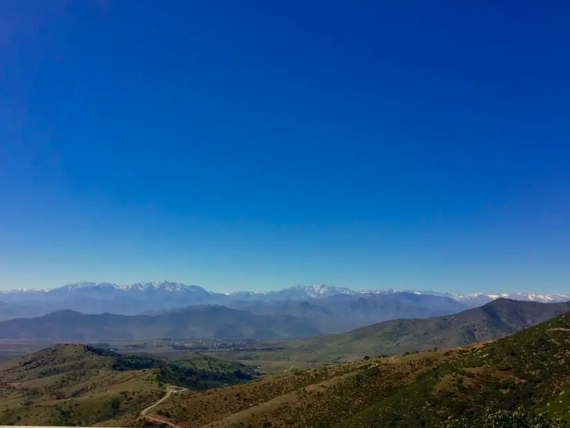 Approaching Valle del Choapa, a wine region in Chile between the Pacific and the Andes