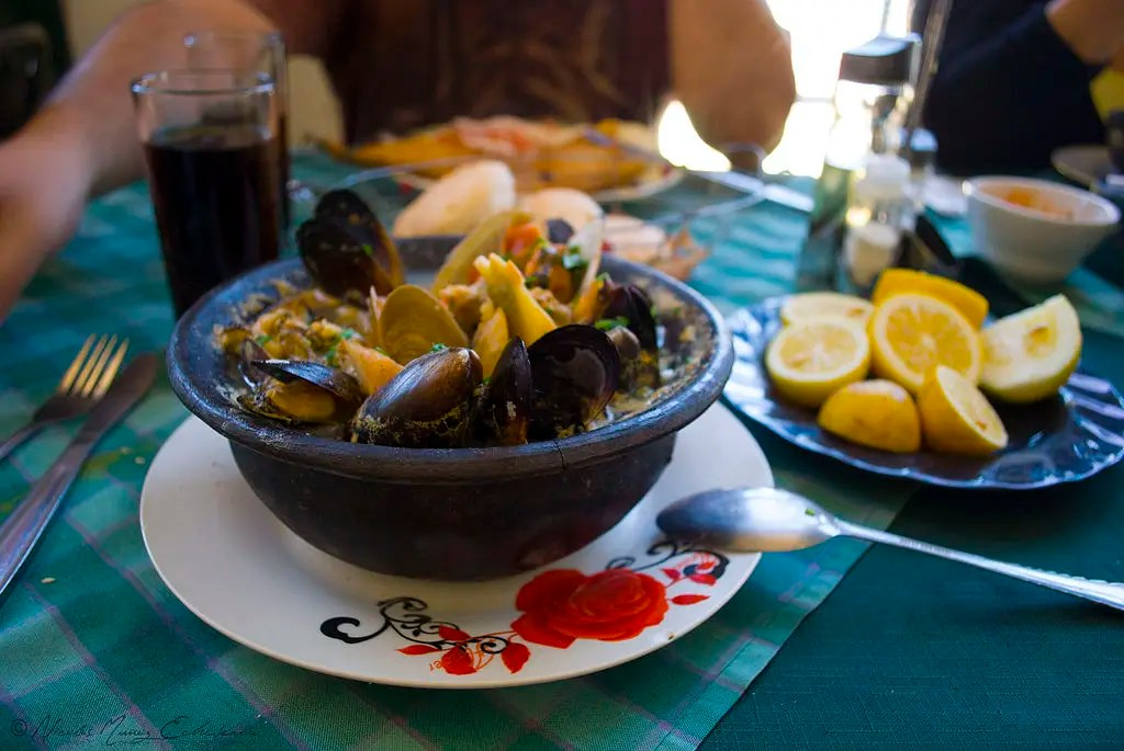 A bowl of mariscos or seafood, eating is one fof the best things to do in Valparaíso