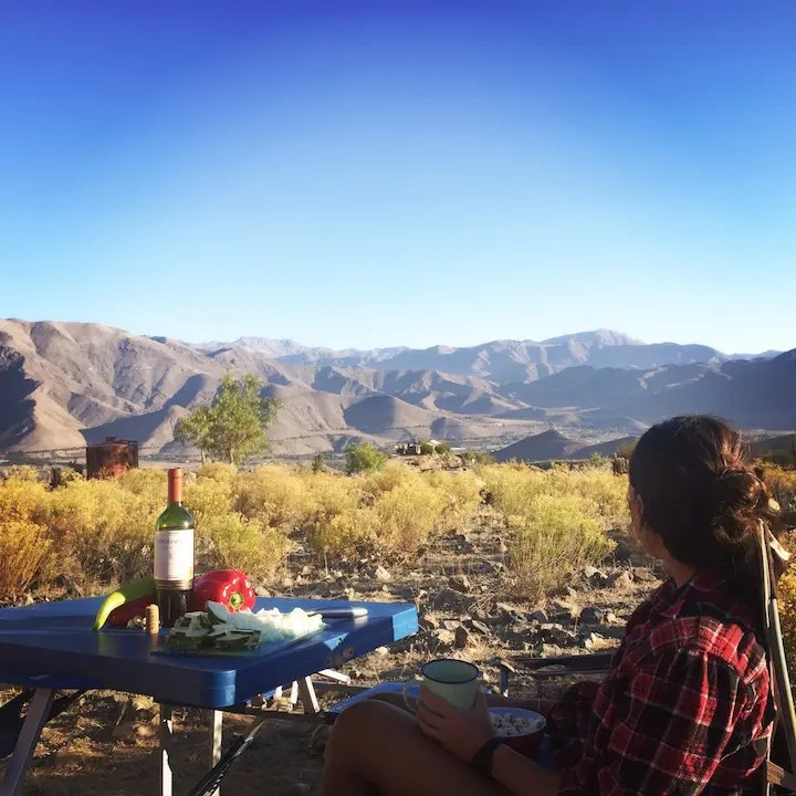 Camped above the Elqui Valley