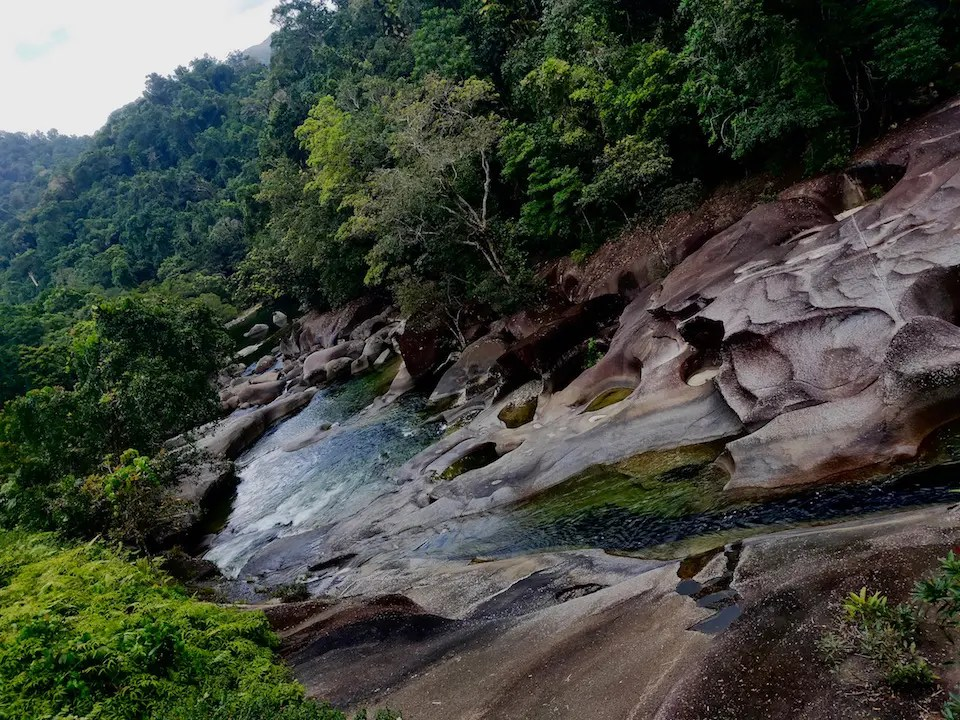 The Babinda Boulders are one of the most spectacular attractions near Townsville and nearby is some of the best free camping Townsville