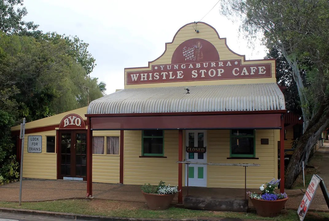 The Whistle Stop Cafe in Yungaburra is a great place to grab breakfast on any Atherton Tablelands itinerary.
