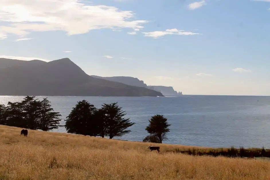 Beautiful countryside of the Tasman Peninsula