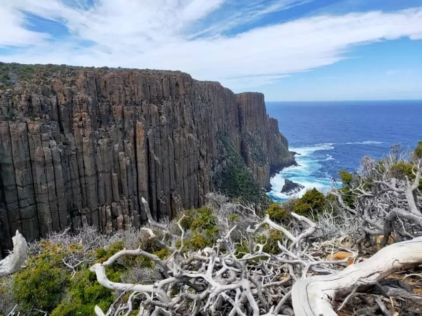 The stunning cliffs of Cape Raoul on the Tasman Peninsula.