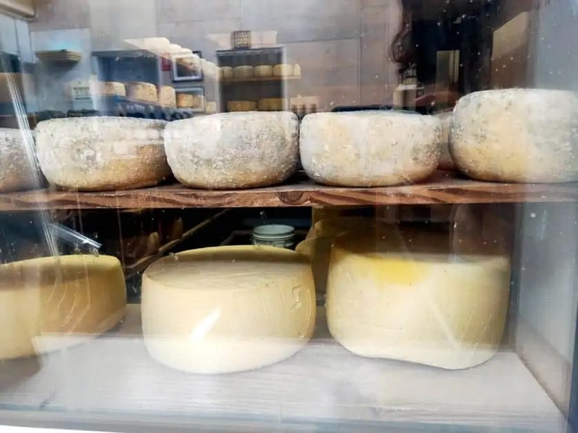 The cheese wheels at Bruny Island Cheese Company