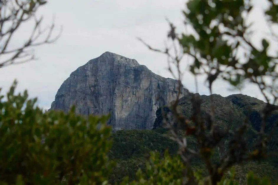 The peak of Frenchmans Cap, seen from the Frenchmans Cap hike