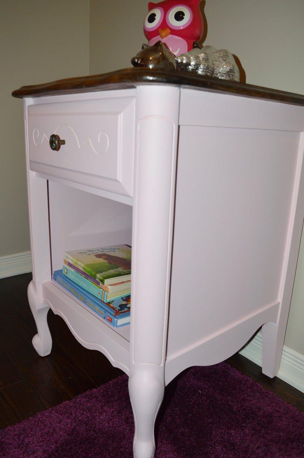 pink furniture makeover