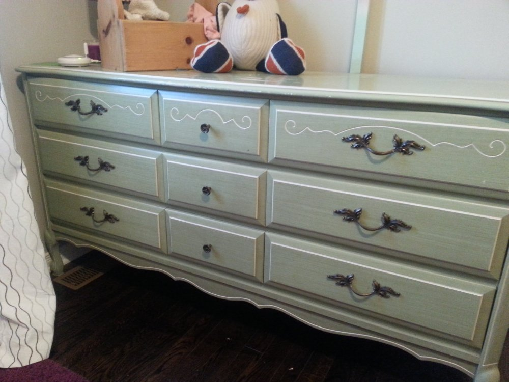 DIY painted pink furniture makeover using pink chalk paint