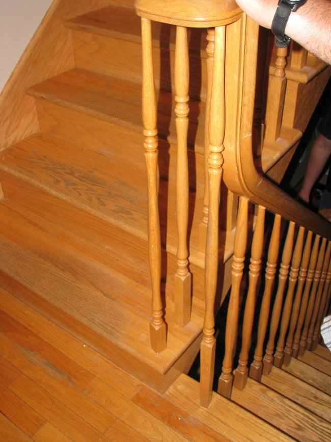 Clear oak stairs