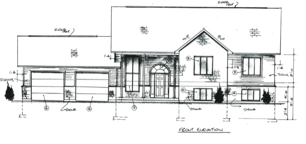 Owner builder raised bungalow. House construction schedule for owner builders