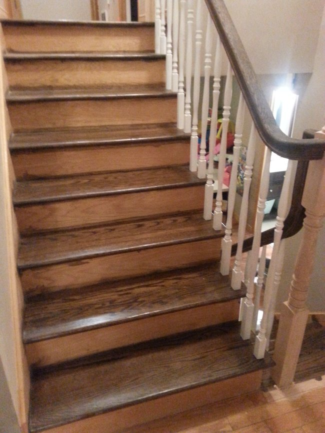 oak stair makeover