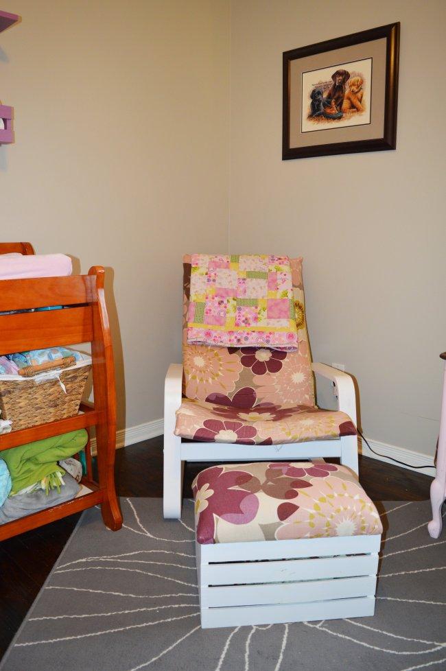 apple crate foot stool