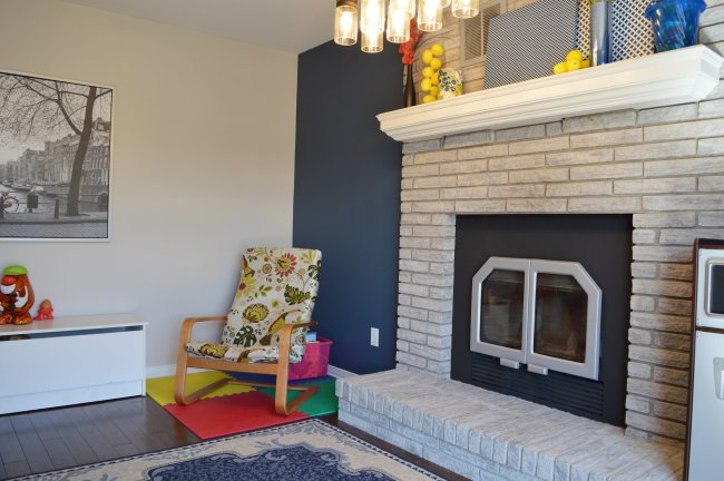 1990s fireplace makeover