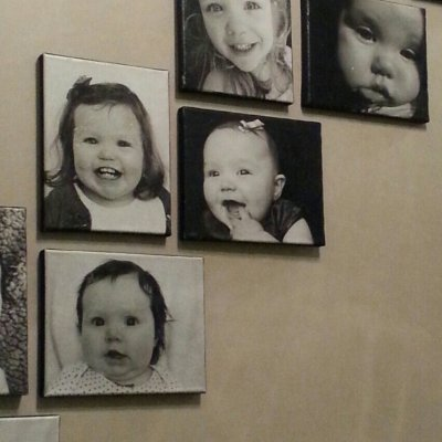 Tissue Paper Pictures on Canvas Gallery Wall