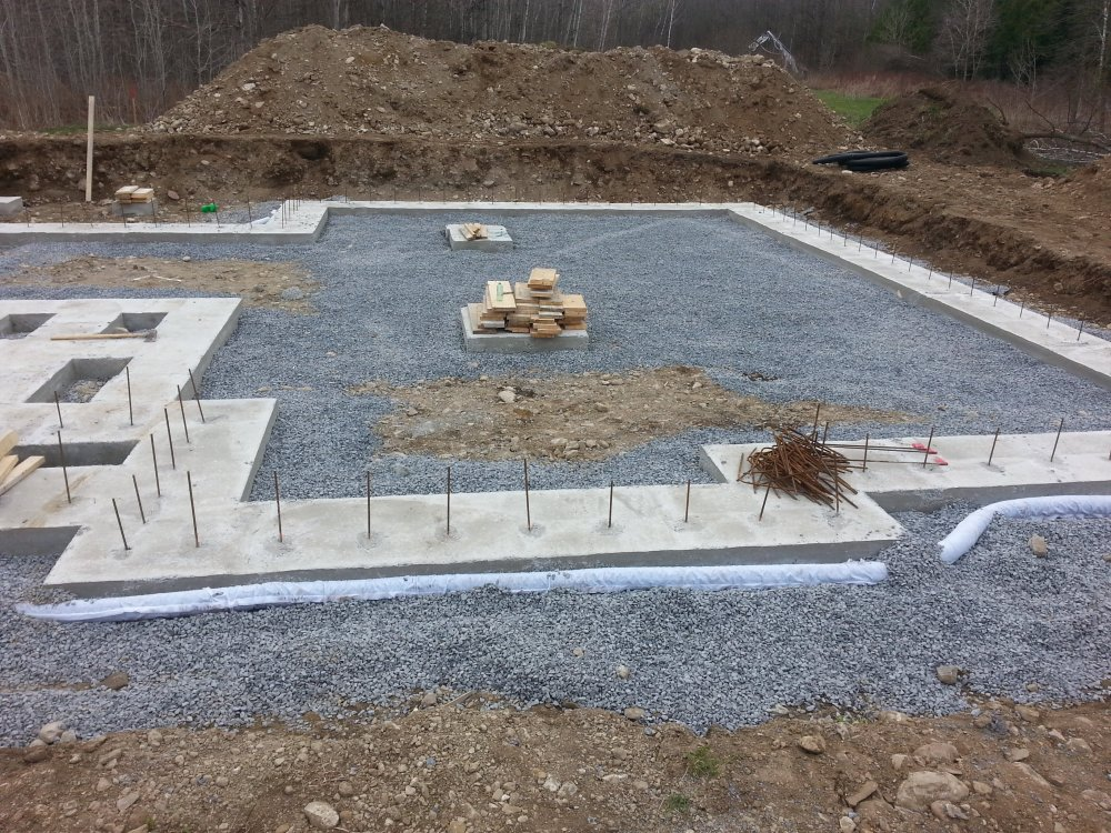 Concrete footings for an owner builder raised bungalow