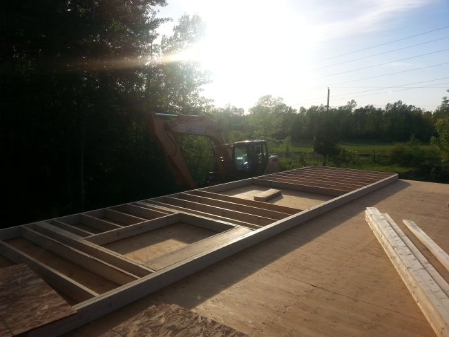 framing the first floor of a raised bungalow