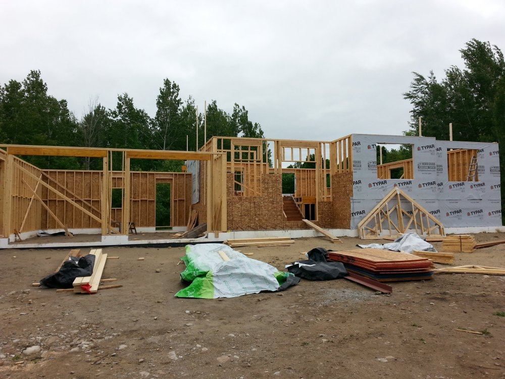 house framing raised bungalow