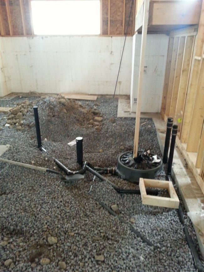 interior framing and plumbing