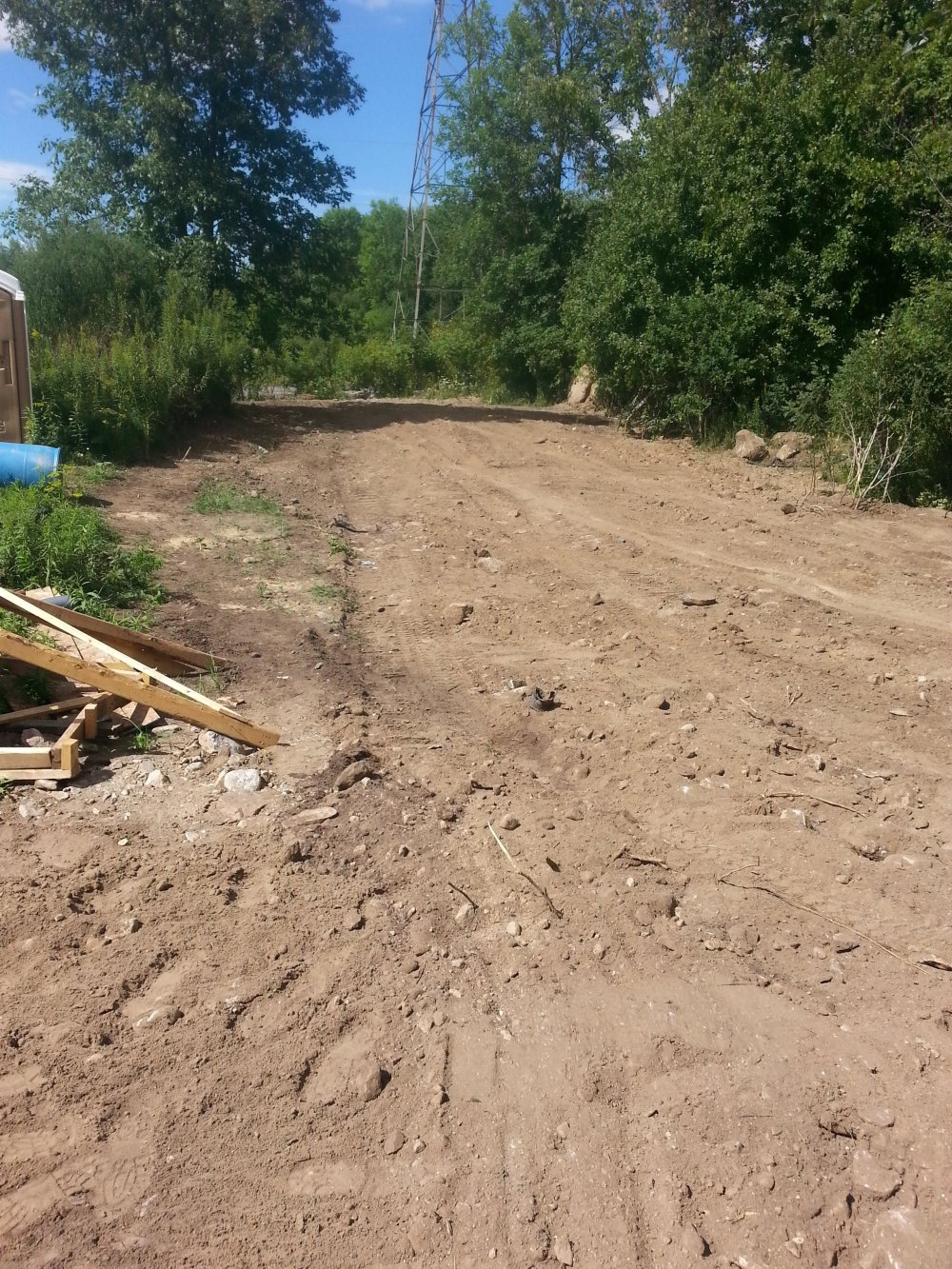 outdoor trench for electrical in a new home construction