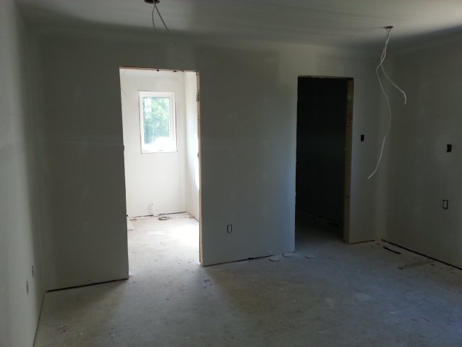 master bedroom drywall