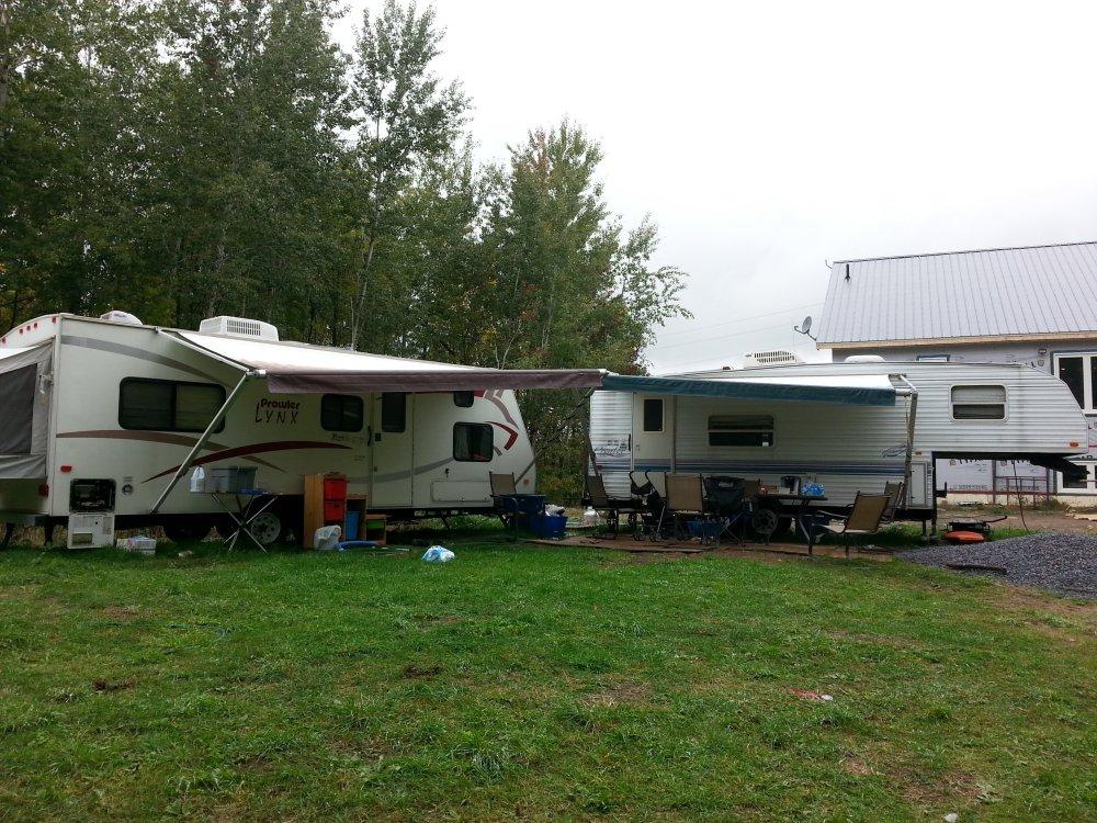 Owner builders living in a trailer