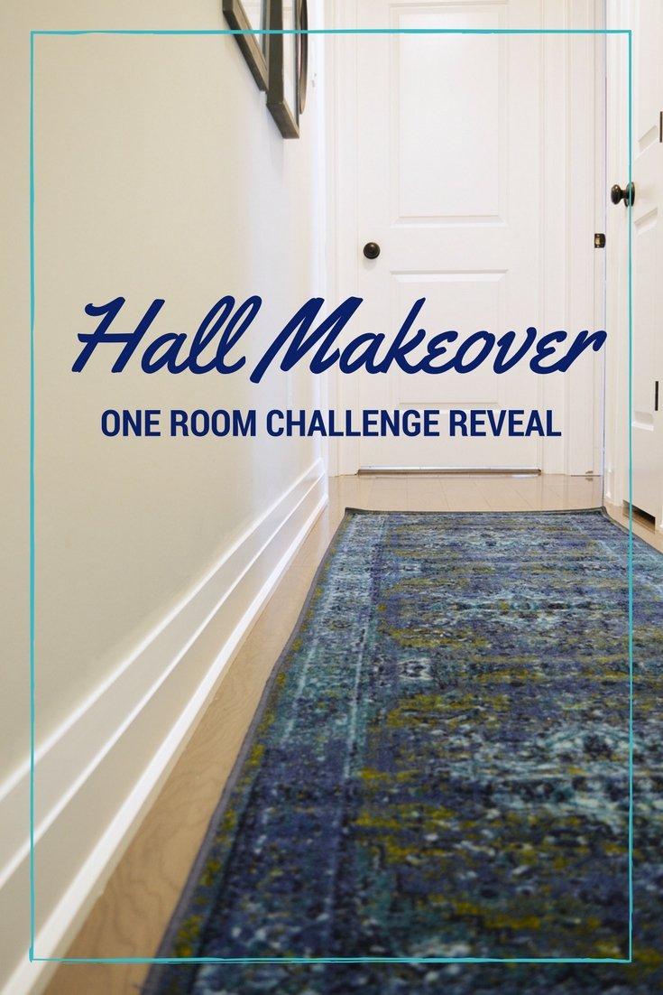 one room challenge hall makeover