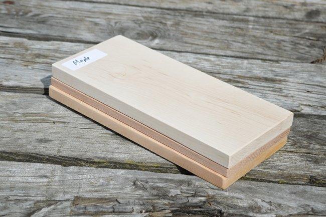 Maple, cedar, and oak grilling plank
