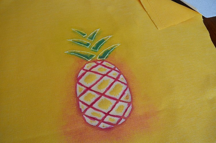 Pineapple-watercolor-pillow-cover