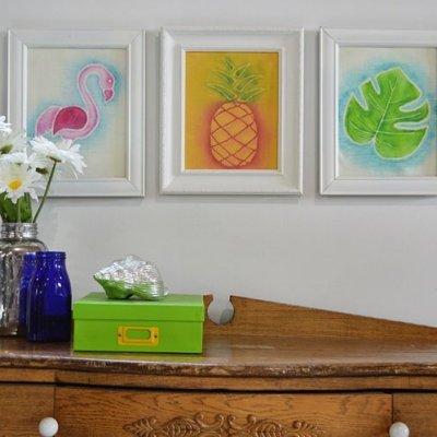 DIY Chalk Paint Picture Frames