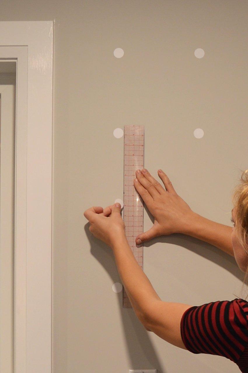 polka dot master bedroom accent wall tutorial