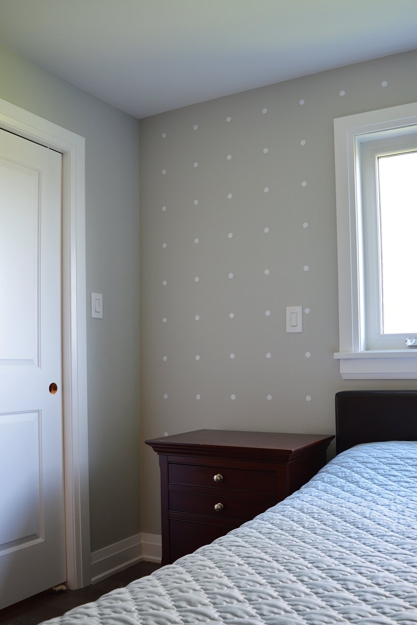 vinly wall decals polka dot accent wall
