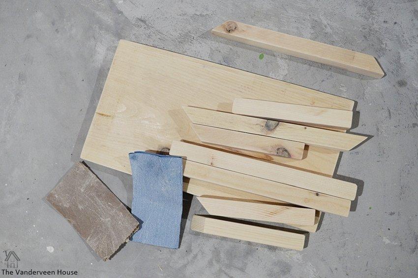 DIY wood nativity