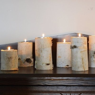 How to make a DIY candle holder from a birch branch