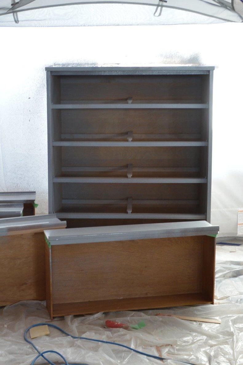 painted mid century dresser