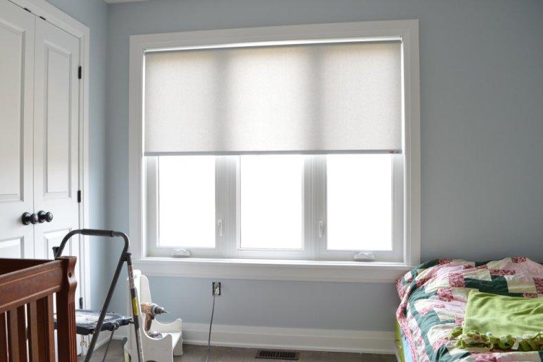 light grey roller blind
