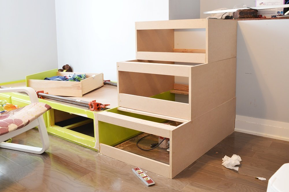 built in storage drawers and loft bed shared boys bedroom built in beds
