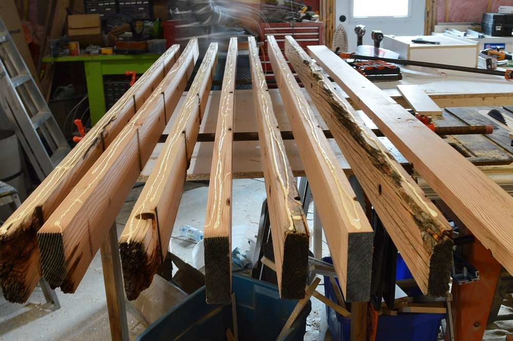 glue boards to make a wood desk top