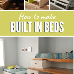 how to make built in beds with storage